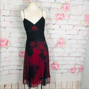 Betsy Johnson 90's vintage romantic silk slip dres